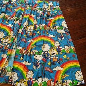 Vintage Charlie Brown Marathon Curtains